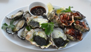 Sydney Rock Oysters (natural, kilpatrick & chevre)