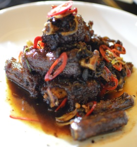Caramelised Wallaby tail w black bean & chilli