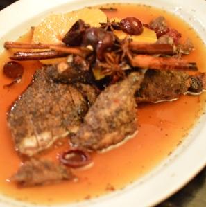 Crispy skin Burrawong Peking Duck w organic quandongs