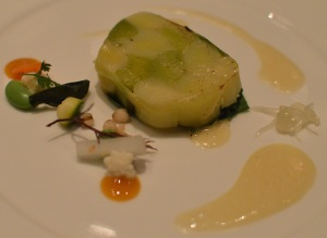 Leek, acidities of pickles Japanese style & yuzu