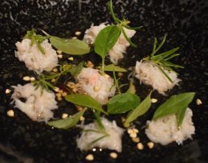 Crab, shiitake & eleven basils